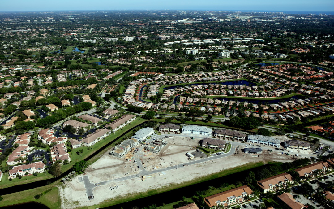 A Bird's Eye View of Pointe100, as Progress Continues on Boca's Most Exclusive New Construction Townhome Community
