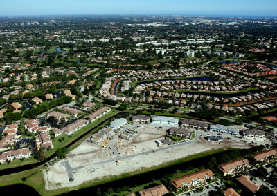 Townhomes in Boca Aerial Construction Image 10