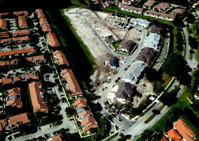 Townhomes in Boca Aerial Construction Image 11
