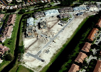 Townhomes in Boca Aerial Construction Image 5