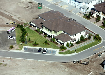 Townhomes in Boca Aerial Construction Image 9